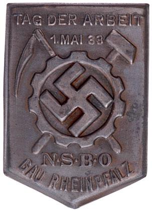 NSBO Gau Rhinepfalz TAG Der Arbeit, May 1 1933